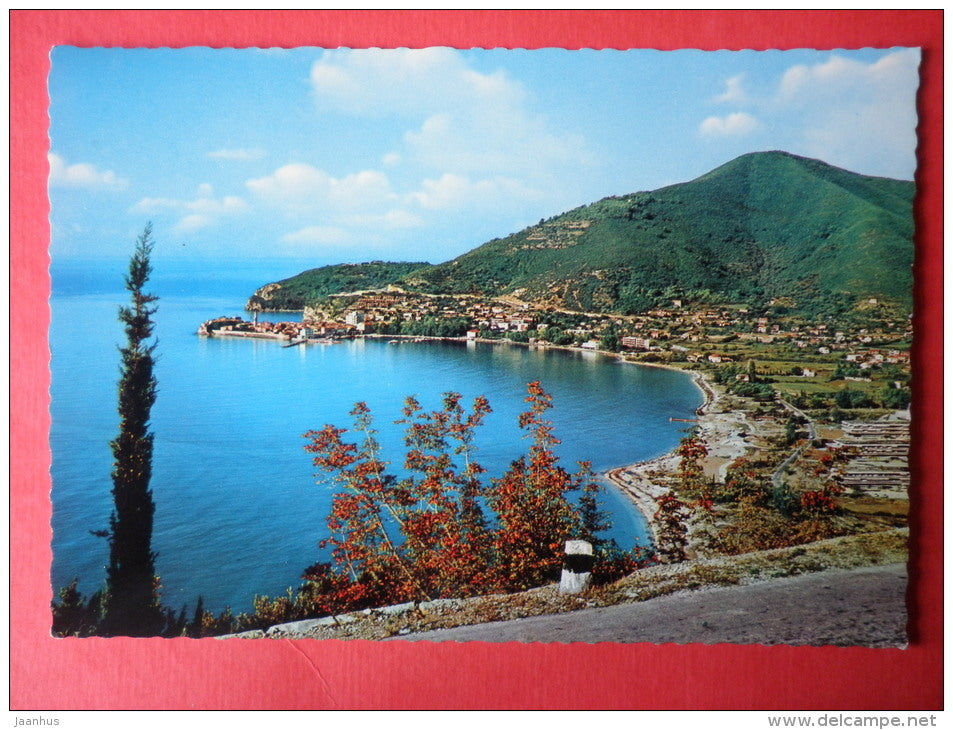 beach - Budva - Montenegro - Yugoslavia - circulated in 1973 in Estonia USSR - used - JH Postcards