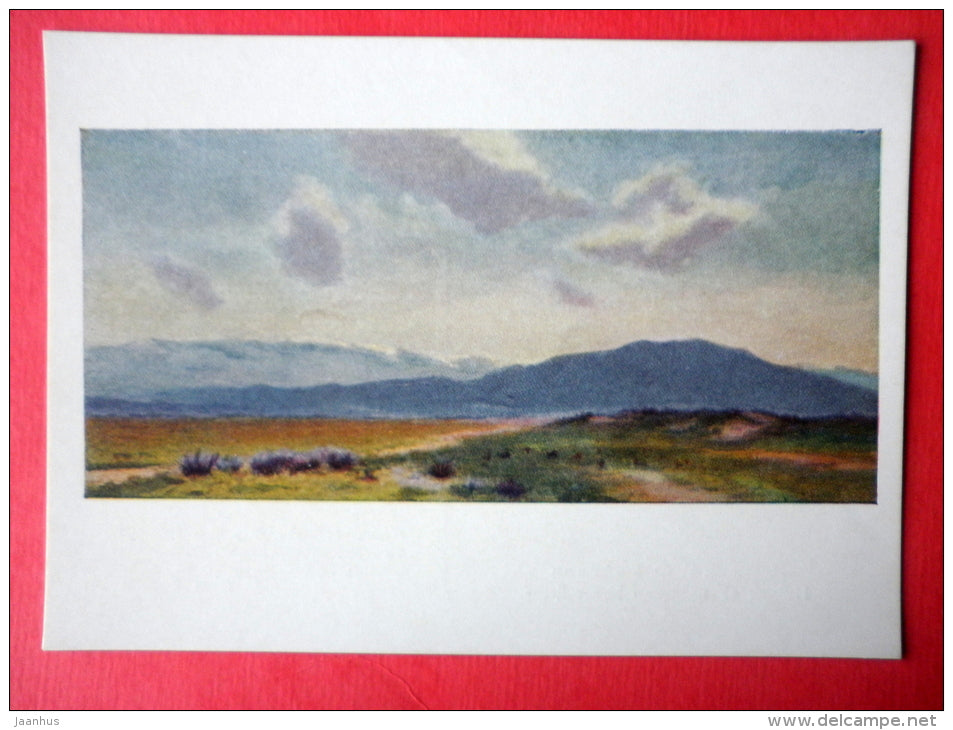 painting by G. Babikov - At the Foot of Kopet Dag - turkmenian art - unused - JH Postcards