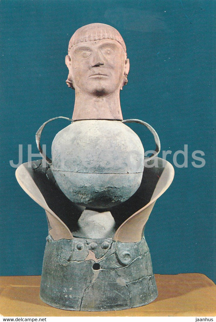 Museo Etrusco - Chiusi - Canopic Vase Mieli Servadio - Etruscan Museum - ancient art - Italy - Italia - unused - JH Postcards