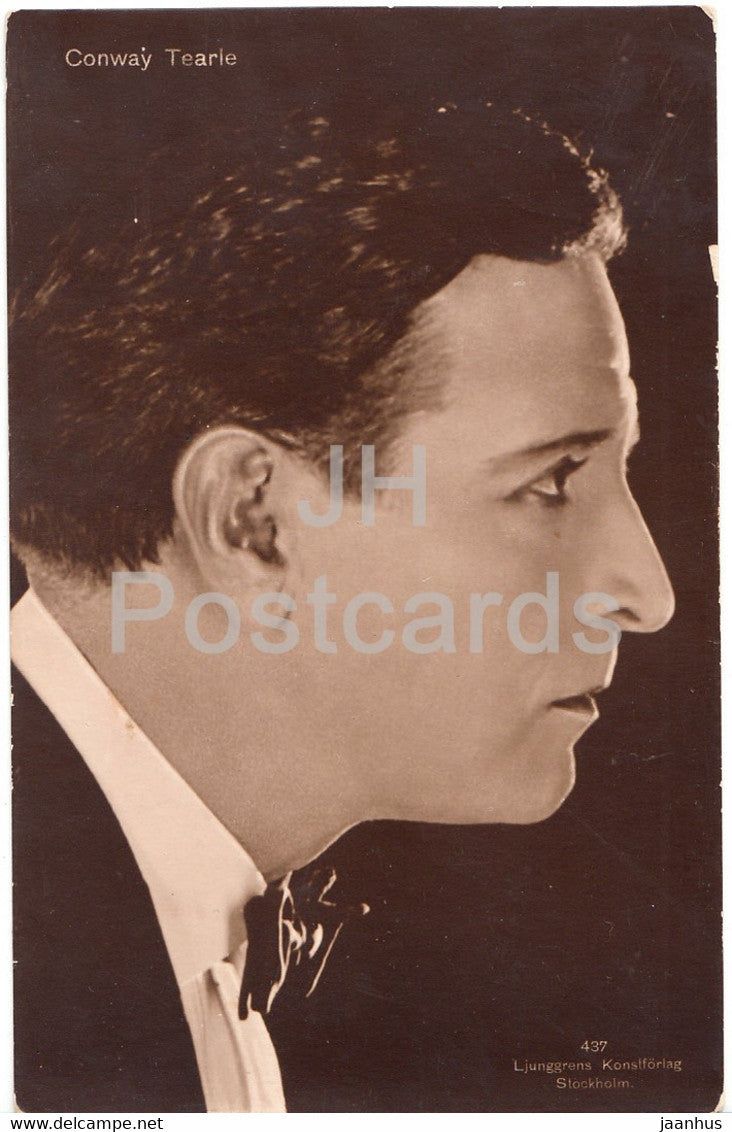 American actor Conway Tearle - Film - Movie - 437 - 1925 - Sweden - old postcard - used - JH Postcards