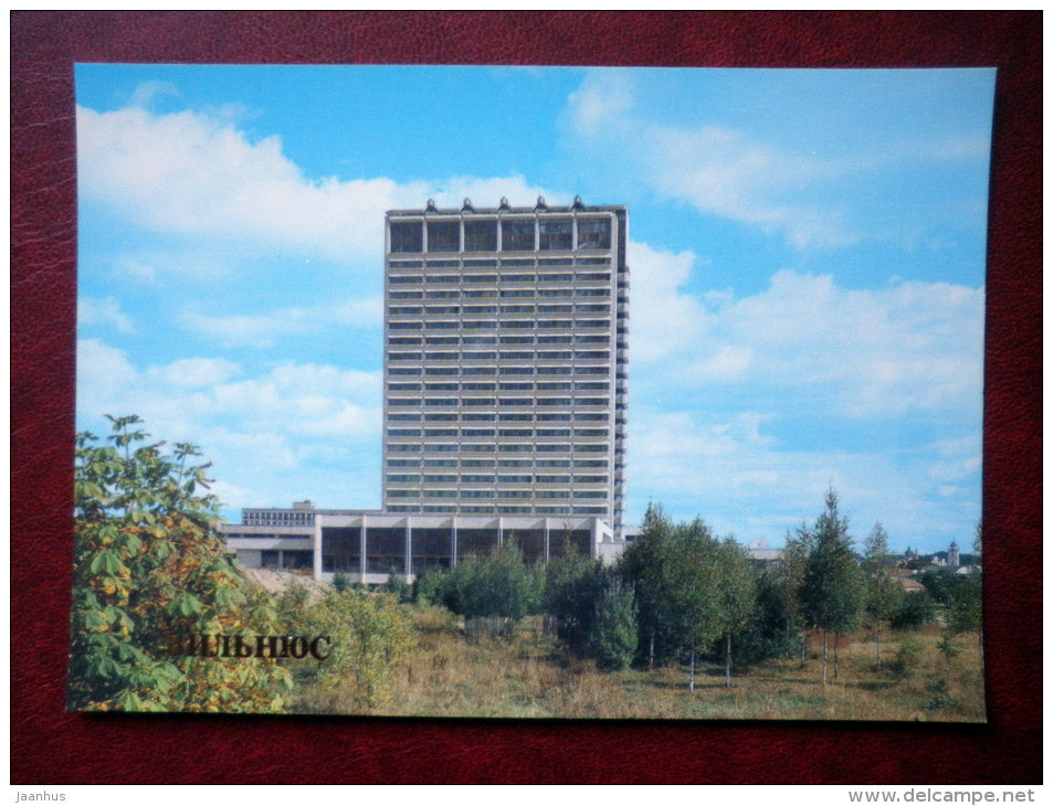 Lithuania hotel - Vilnius - 1984 - Lithuania USSR - unused - JH Postcards