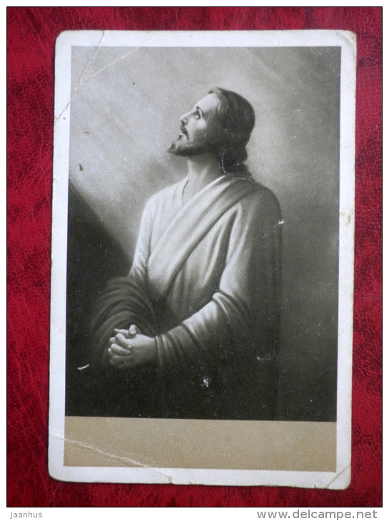 Jesus - Christmas card - Estonia - sent in 1936 - used - JH Postcards