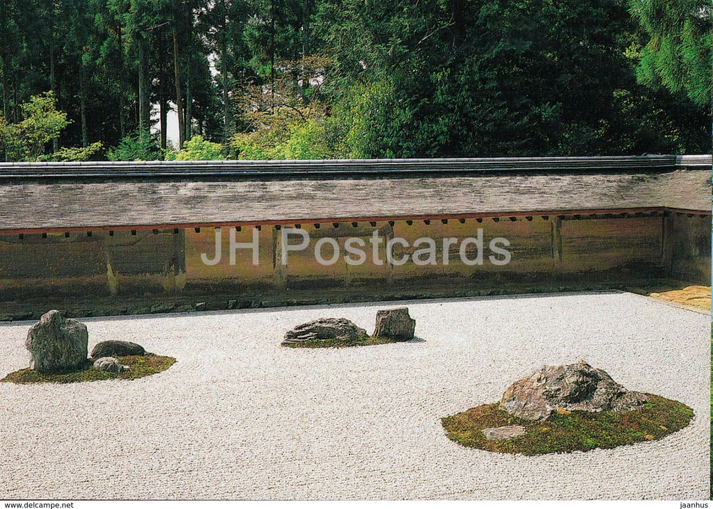 Kyoto - Rock Garden of Ryoan-Ji - Japan - unused - JH Postcards