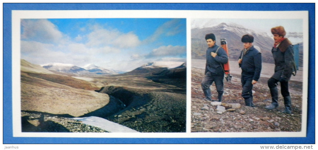 surveyors - On the polar Spitsbergen - 1978 - Norway - unused - JH Postcards