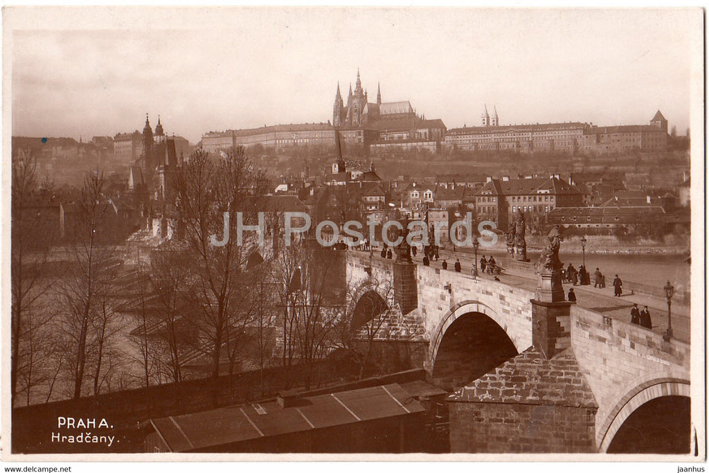Praha - Prague - Hradcany - VKKV - old postcard - Czech Republic - unused - JH Postcards