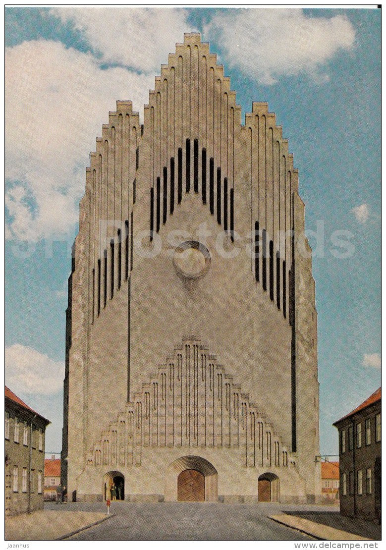 Grundtvig´s Church - Copenhagen - 6006 - Denmark - unused - JH Postcards