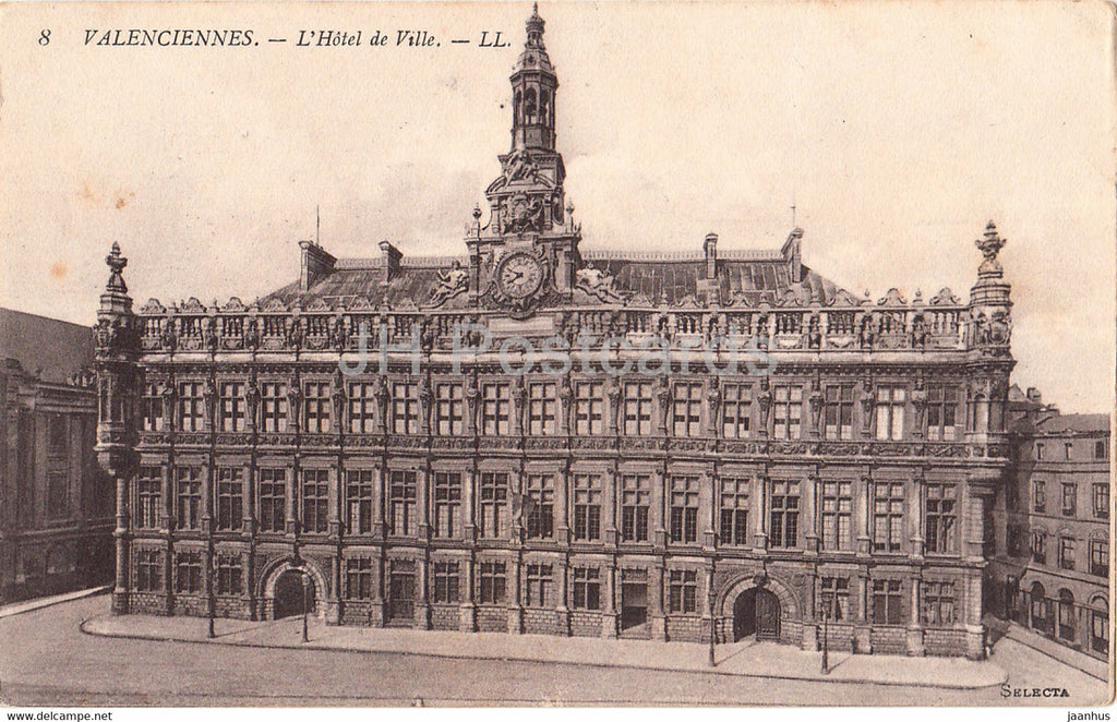 Valenciennes - L'Hotel de Ville - Feldpost - 8 - old postcard - France - used - JH Postcards