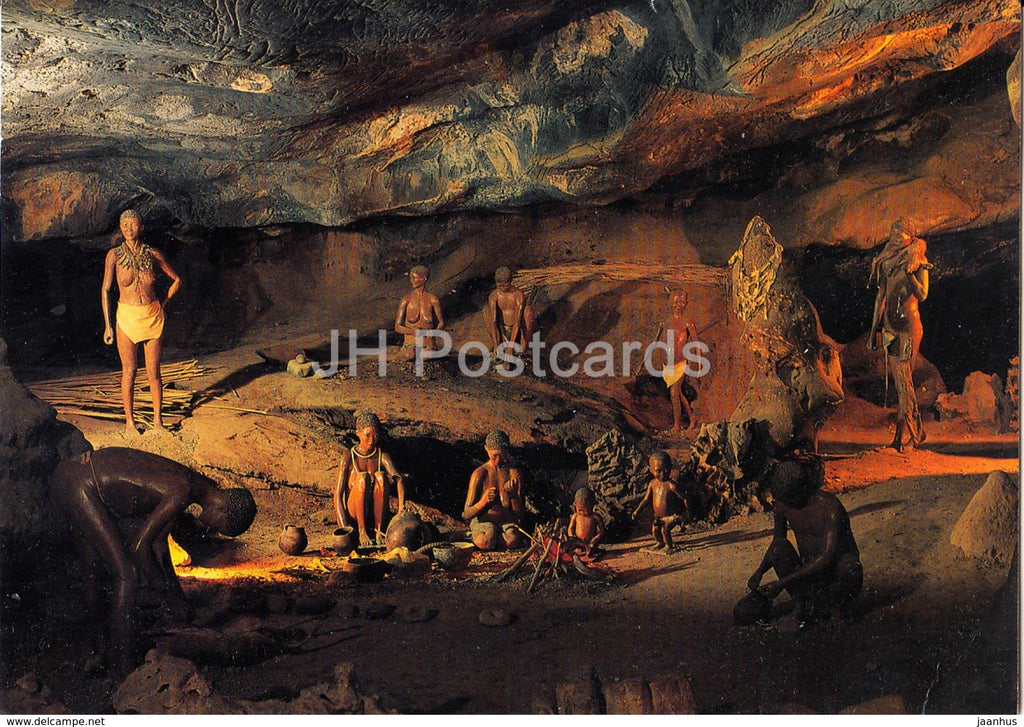 Cango Caves near Oudtshoorn - ancient world - archaeology - 1983 - South Africa - used - JH Postcards