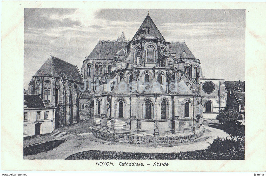 Noyon - Cathedrale - Abside - 18 Res Division - Feldpost - old postcard - 1915 - France - used - JH Postcards