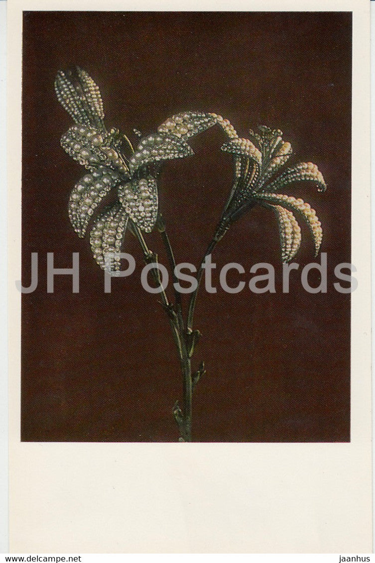Pearl and Diamond Lilies, 1770s Russia - The Hermitage - Leningrad - Russia - USSR - 1982 - used - JH Postcards