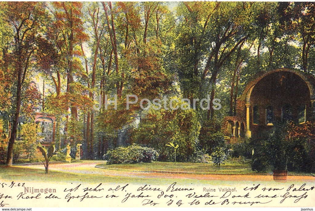 Nijmegen - Ruine Valkhof - old postcard - 1902 - Netherlands - used - JH Postcards