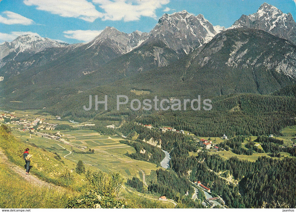 Scuol - Tarasp - Vulpera 1250 m - Station Thermale - Lischanagruppe - 1972 - Switzerland - used - JH Postcards