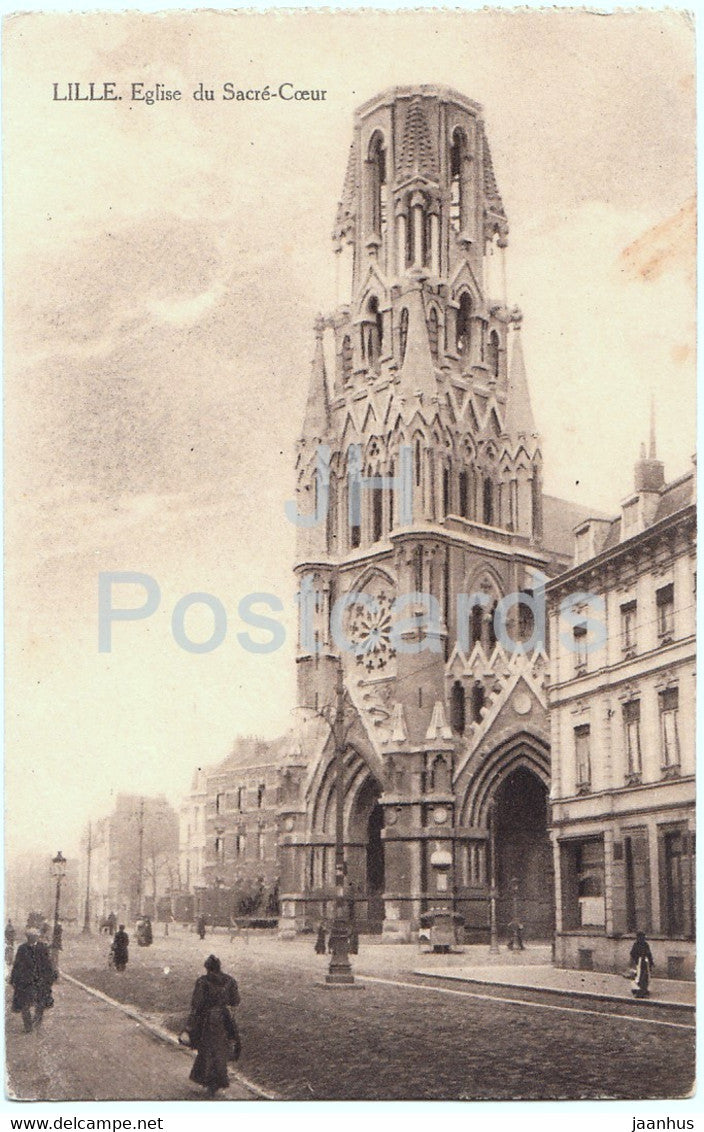 Lille - Eglise du Sacre Coeur - church - 24 Infanterie Division - Feldpost - old postcard - 1915 - France - used - JH Postcards