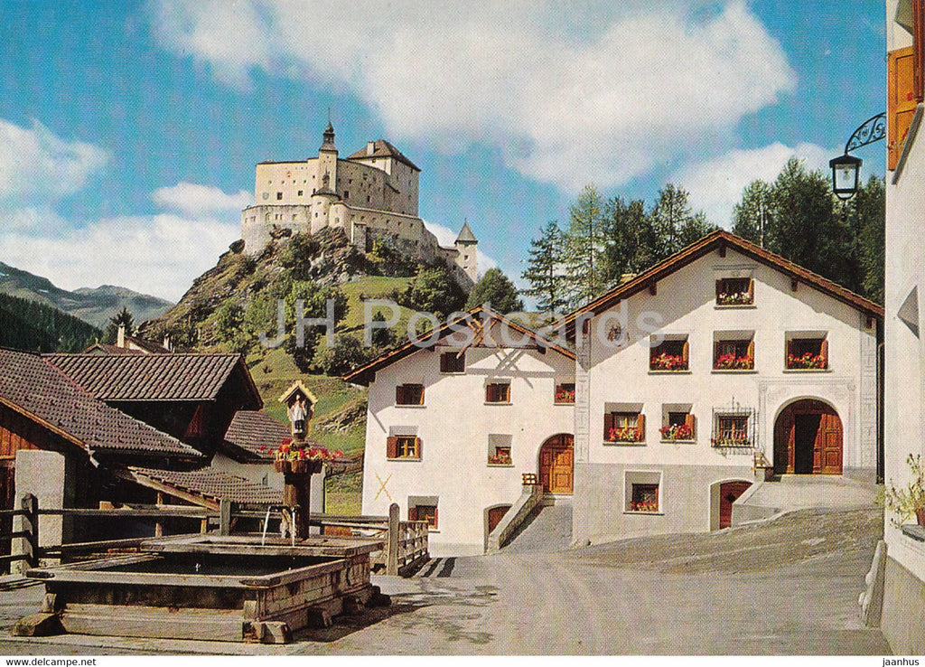 Schloss Tarasp - castle - 1970 - Switzerland - used - JH Postcards