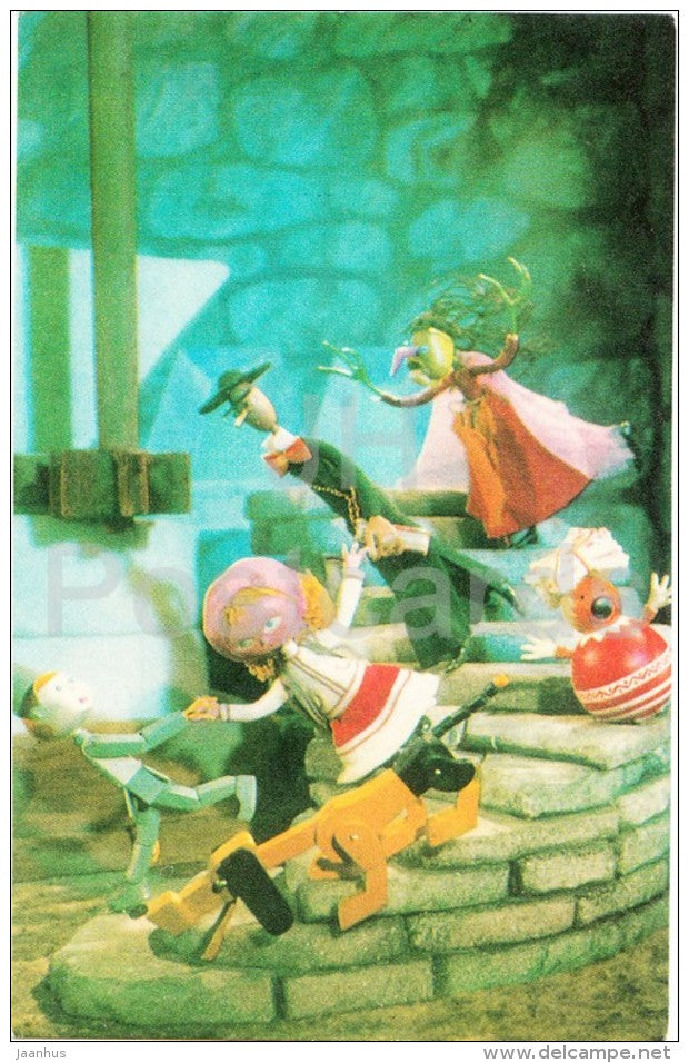 Snowmill - Fairy Tales - puppet film - 1974 - Estonia USSR - unused - JH Postcards