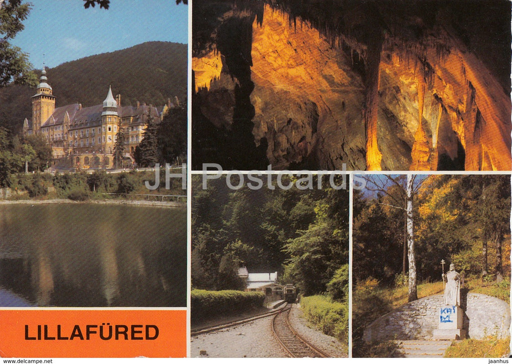 Lillafured - cave - railway - castle - multiview - 1985 - Hungary - used - JH Postcards