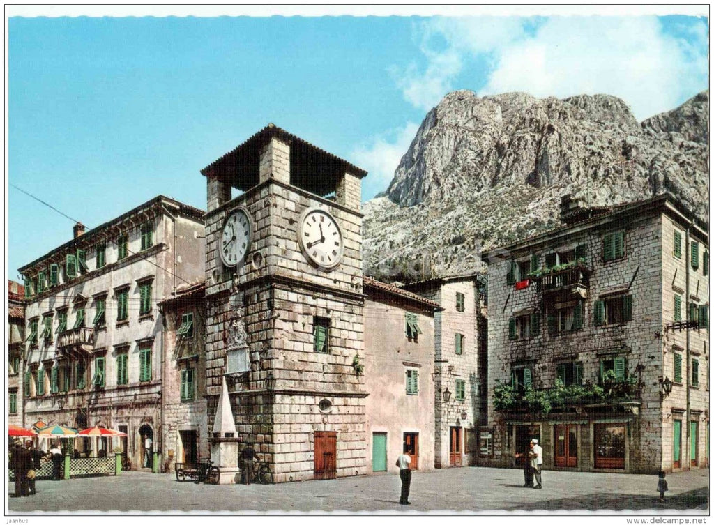 clock tower - Kotor - 427 - Montenegro - Yugoslavia - unused - JH Postcards