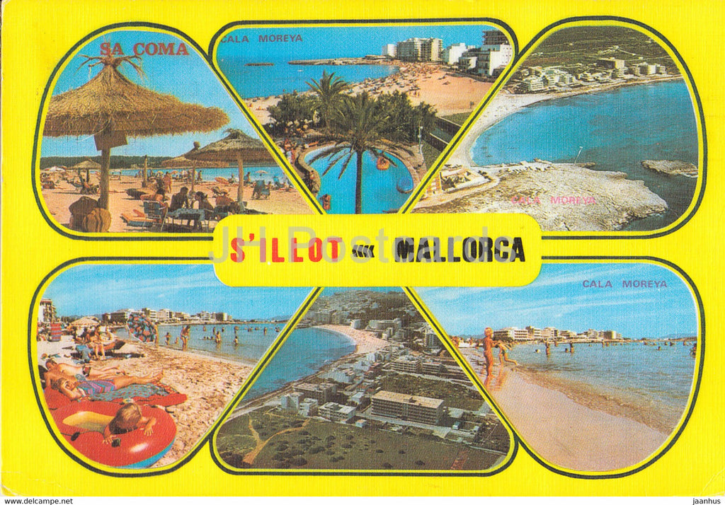 S'Illot - Mallorca - Cala Moreya - beach - hotel - multiview - 2059 - 1981 - Spain - used - JH Postcards