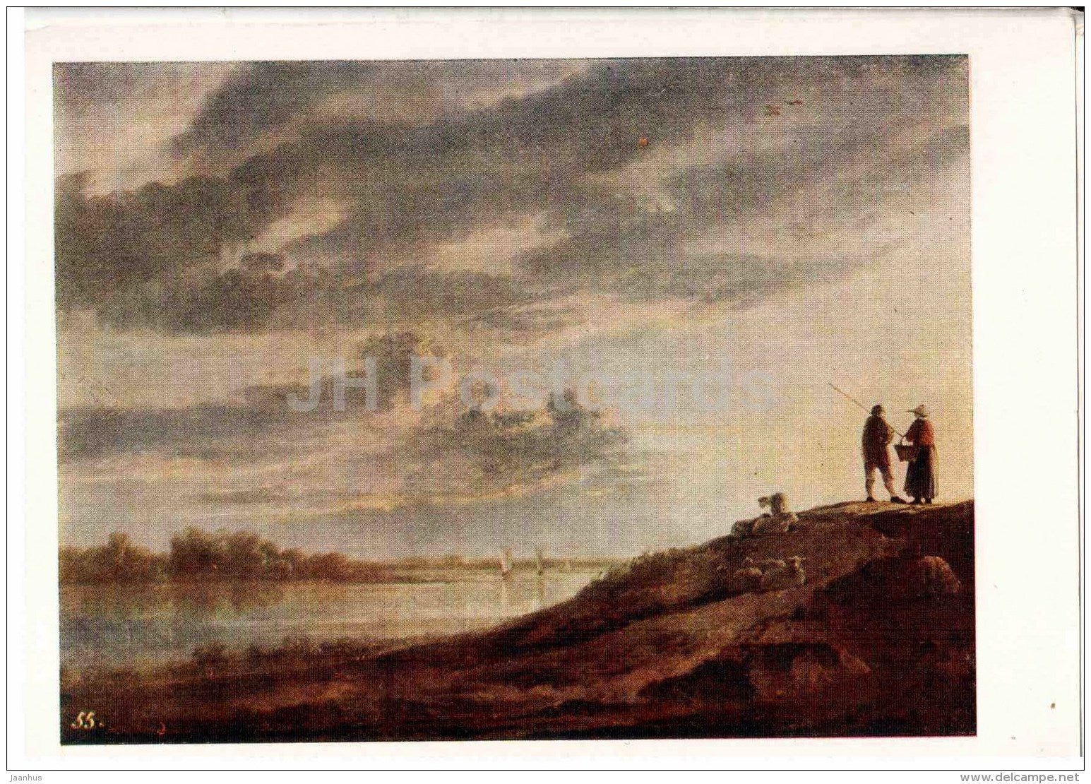 painting by Aelbert Cuyp - Sunset on the river - Dutch art - 1959 - Russia USSR - unused - JH Postcards