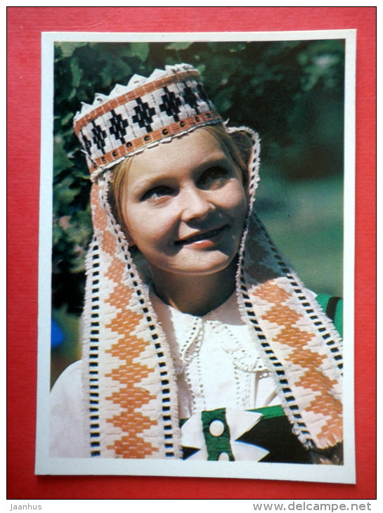Dancer of the Lietuva dance group - Lithuanian Folk Dance - folk costumes - 1979 - USSR Lithuania - unused - JH Postcards