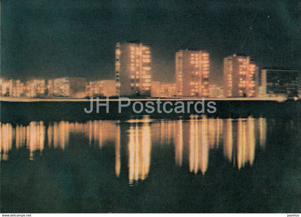 Kaunas - Kaunas at Night - 1982 - Lithuania USSR - unused - JH Postcards