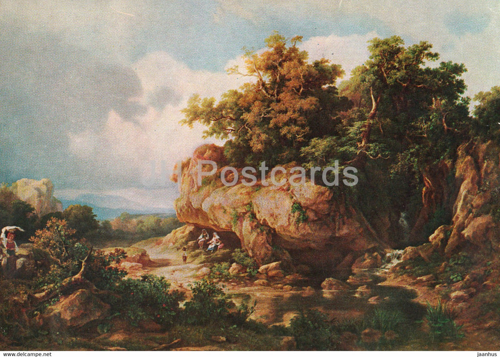 painting by Marko Karoly - Roman Campagna before the storm - Hungarian art - 1968 - Hungary - used - JH Postcards