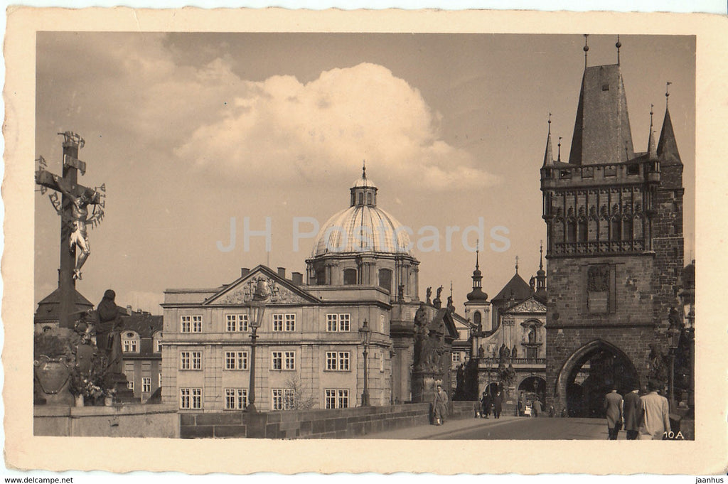 Praha - Prague - U Krizovniku - The Crusaders Monastery - 10A - old postcard - 1940 - Czech Republic - used - JH Postcards
