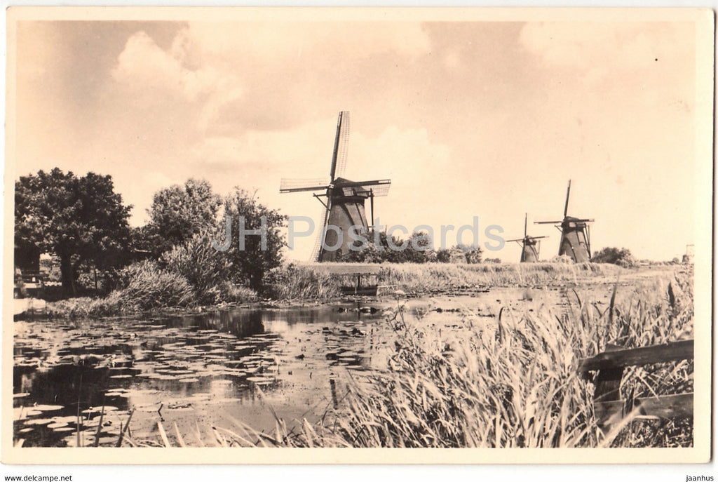 Alblasserwaard - Molen Landschap - windmill - old postcard - Netherlands - used - JH Postcards