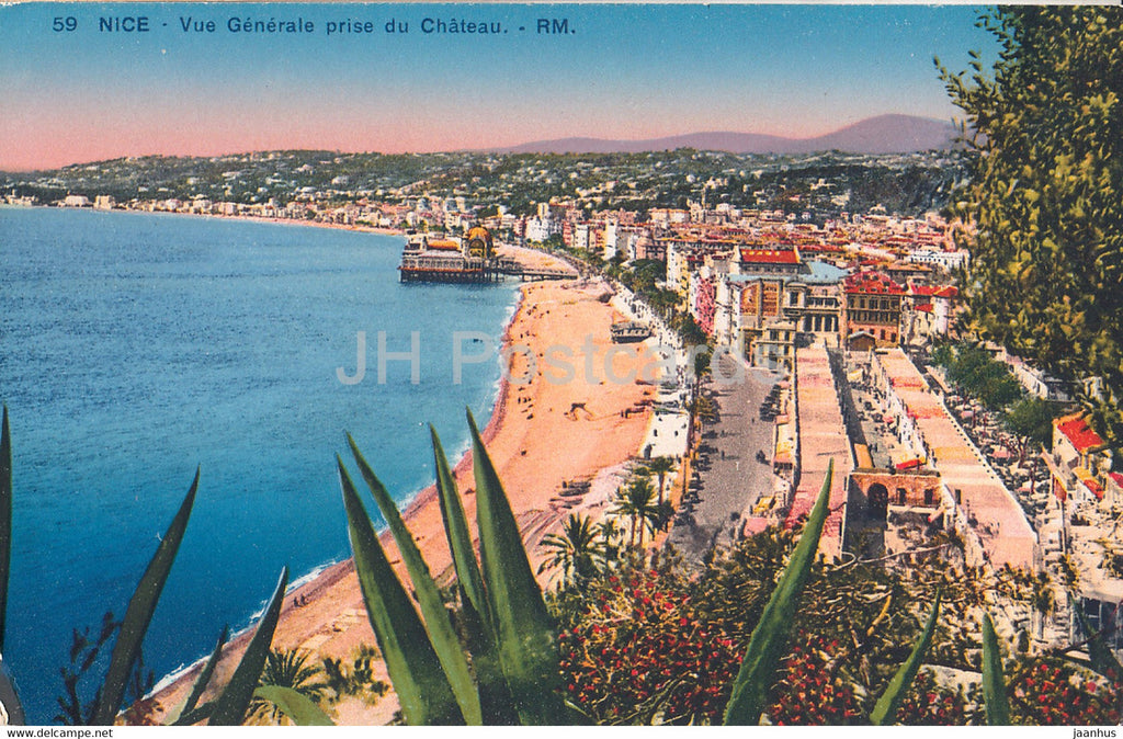 Nice - Vue Generale prise du Chateau - 59 - old postcard - France - unused - JH Postcards