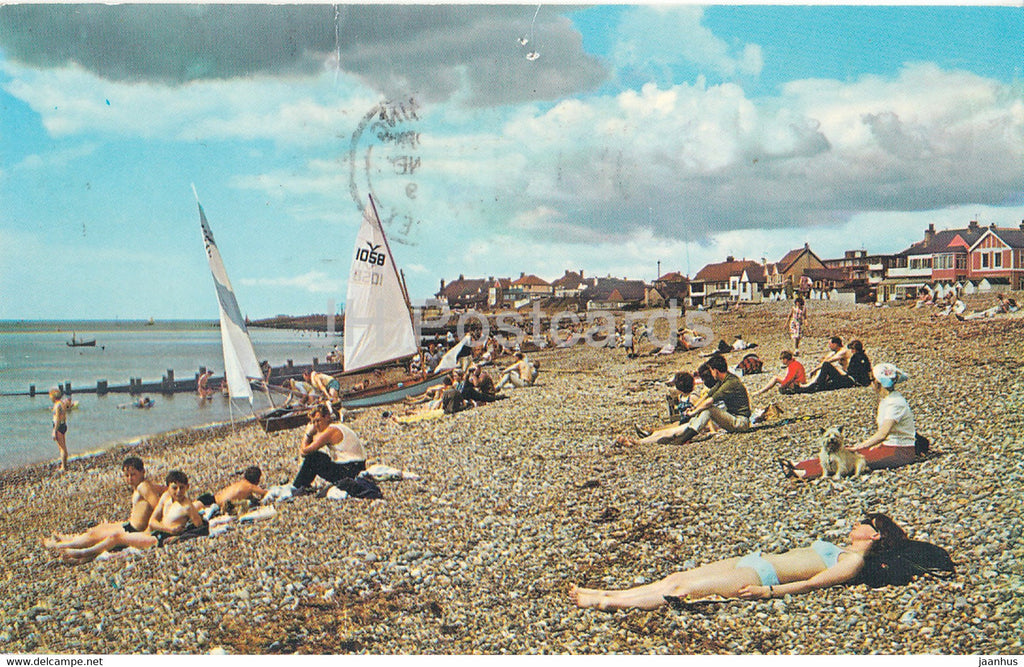 West Beach - Lancing - sailing boat - 1969 - England - United Kingdom - used - JH Postcards