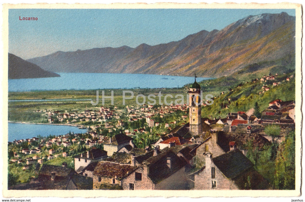 Locarno - 8580 - old postcard - Switzerland - unused - JH Postcards