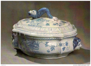 Soup Tureen , Grebenshchikov´s Factory - Russian porcelain of 18.-19. century - 1984 - Russia USSR - unused - JH Postcards