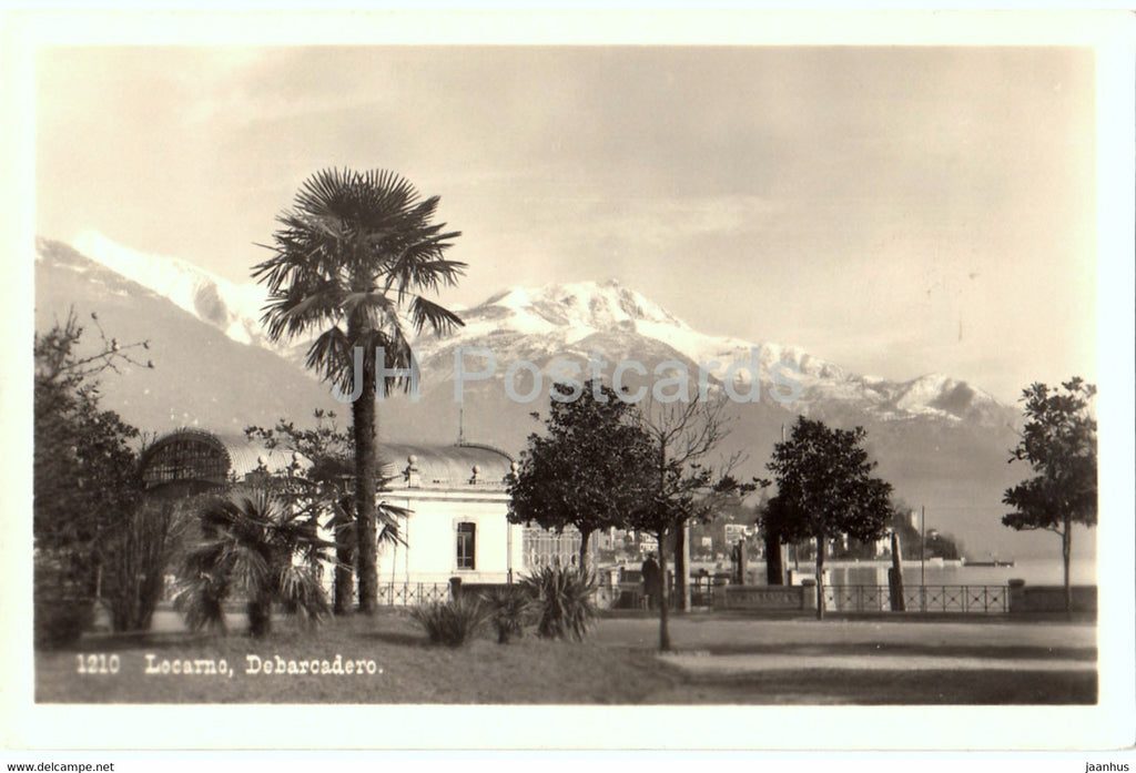Locarno - Debarcadero - 1210 - old postcard - Switzerland - unused - JH Postcards