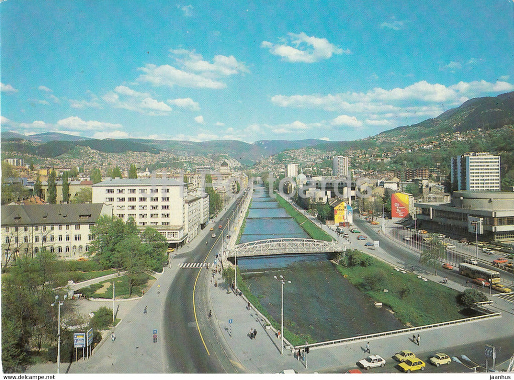Sarajevo - XIV Olympic Winter Games 1984 - street view - 1986 - Yugoslavia - Bosnia and Herzegovina - used - JH Postcards
