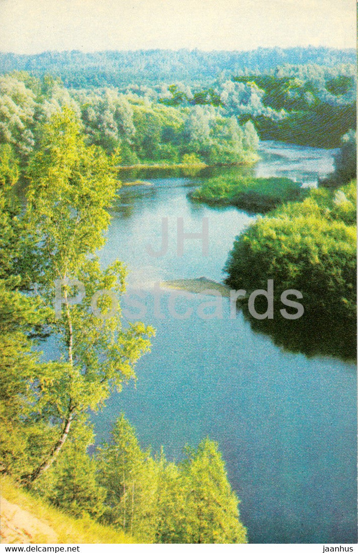 The Gauja National Park - The Gauja river near Sigulda - 1976 - Latvia USSR - unused - JH Postcards