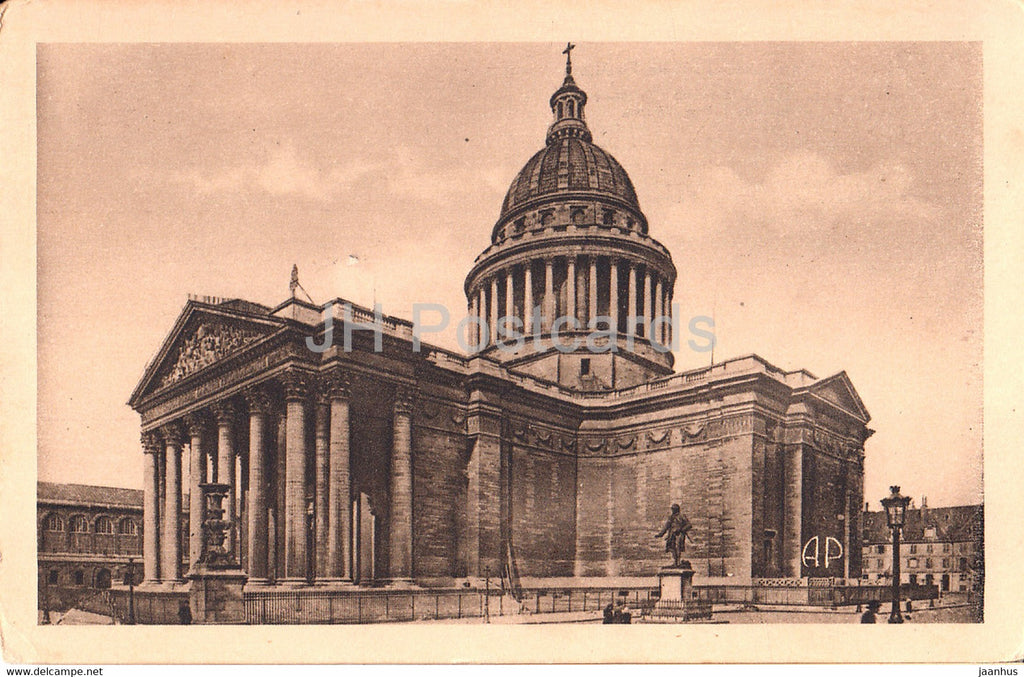Paris - Le Pantheon - The Pantheon - 91 - old postcard - France - unused - JH Postcards