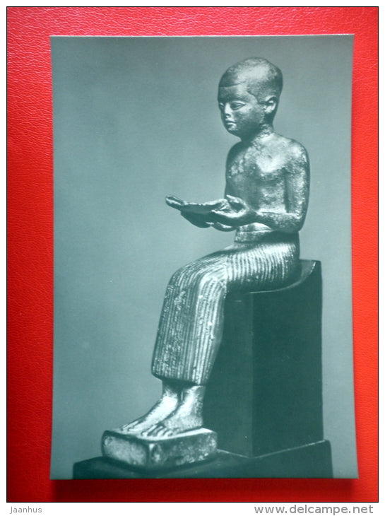Imhotep , 500 BC - Sculptures of Ancient Egypt - old postcard - Germany DDR - unused - JH Postcards