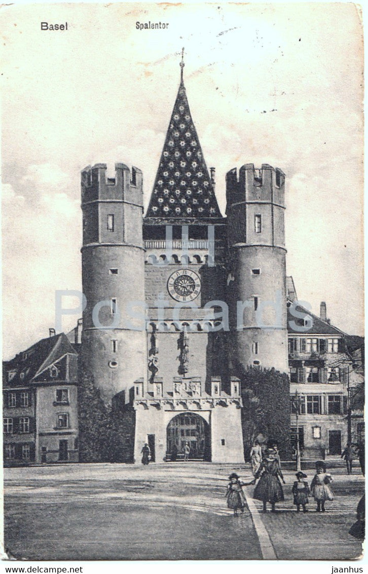 Basel - Basle - Spalentor - old postcard - 1913 - Switzerland - used - JH Postcards