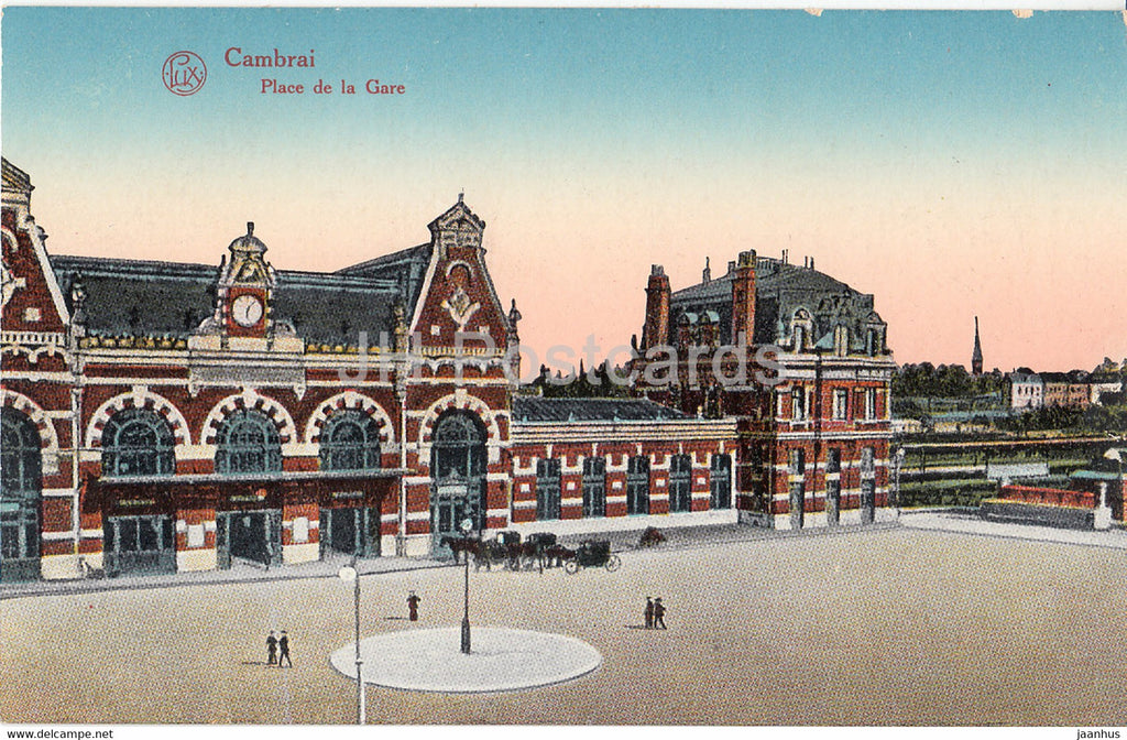 Cambrai - Place de la Gare - old postcard - France - used - JH Postcards
