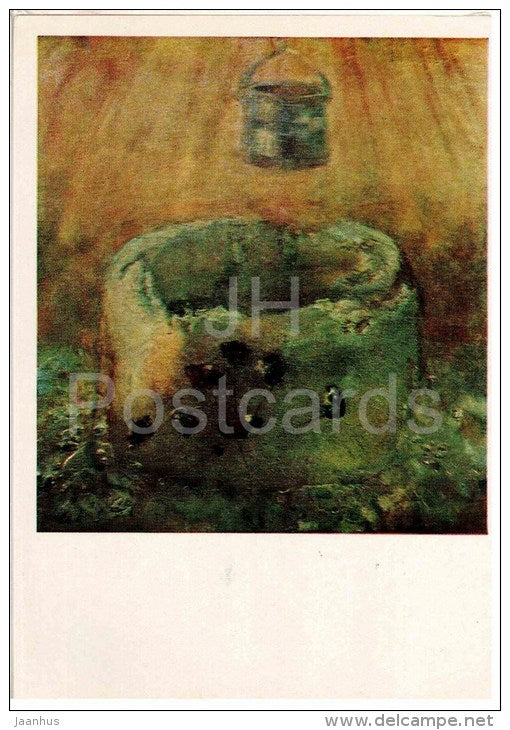 painting by M. Greku - Golden Well , 1976 - moldavian art - unused - JH Postcards