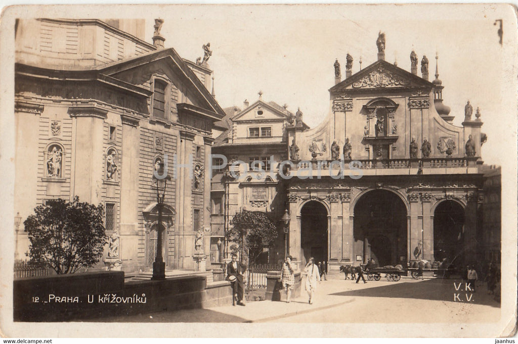 Praha - Prague - U Krizovniku - Crusaders Monastery - VKKV - 12 - old postcard - 1931 - Czech Republic - used - JH Postcards