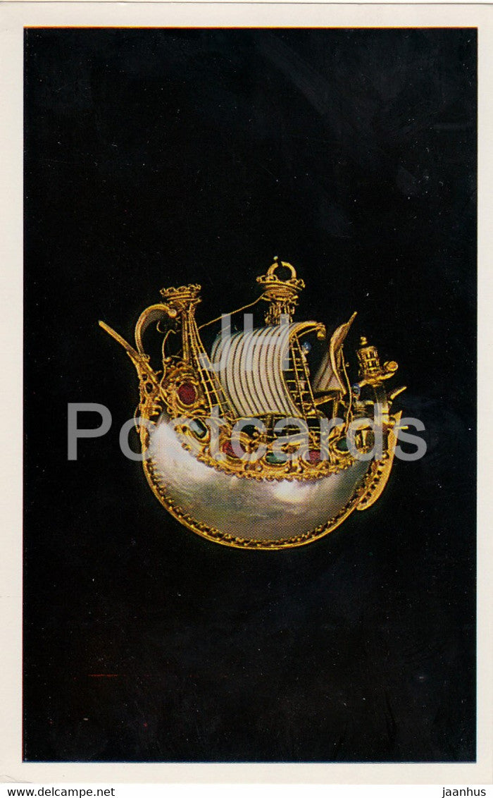 Jewels - Pendant - Italy 16th Century - The Hermitage - Leningrad - Russia - USSR - 1982 - used - JH Postcards