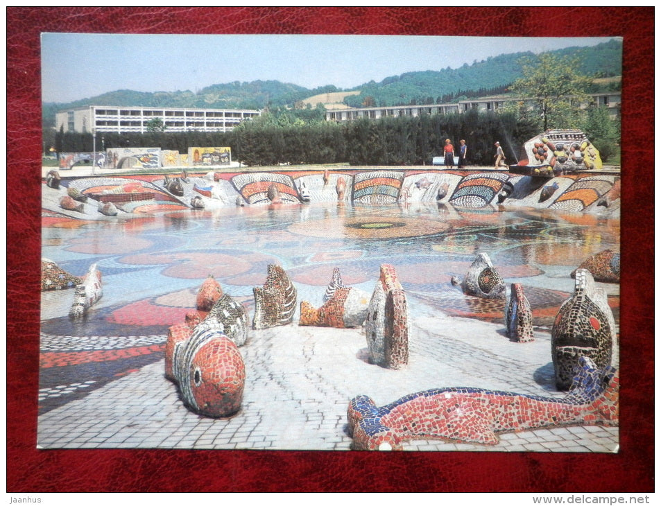 a children's pool - Adler - Sochi - 1986 - Russia - USSR - unused - JH Postcards