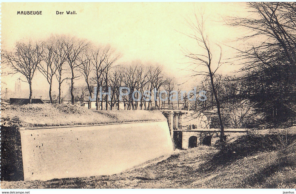 Maubeuge - Der Wall - old postcard - France - unused - JH Postcards