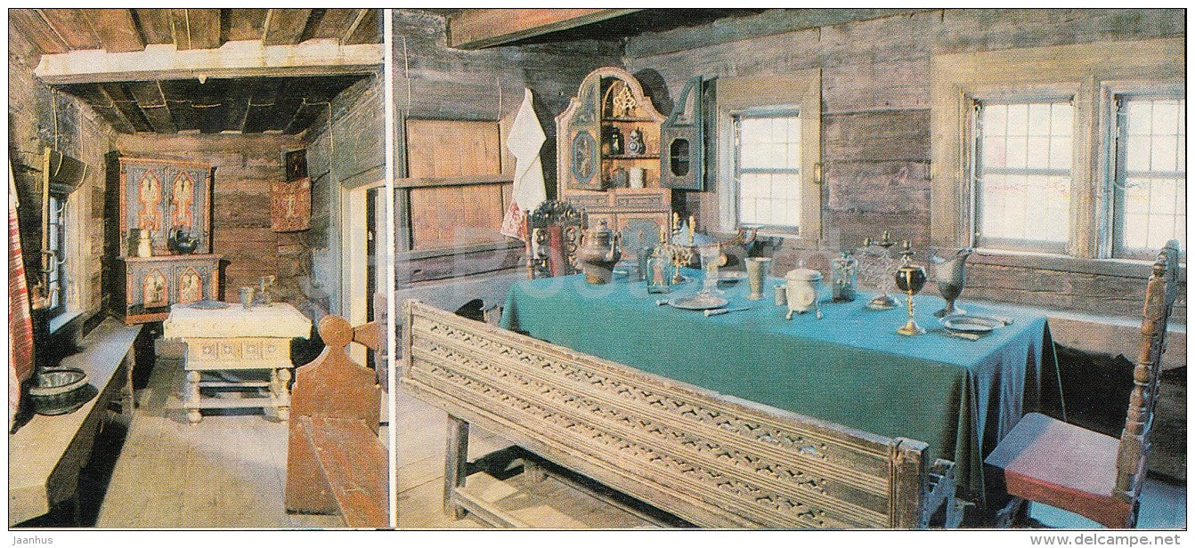 House of Peter the Great , Batman´s and Dining Room - Kolomenskoye State Museum-Preserve - 1982 - Russia USSR - un - JH Postcards