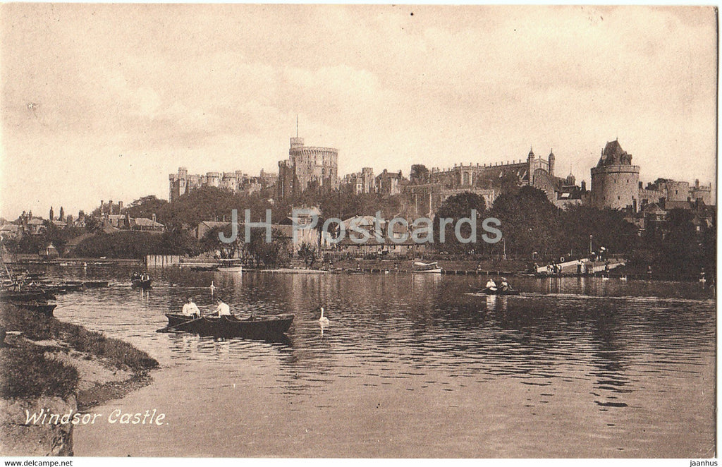 Windsor Castle - boat - 35368 - old postcard - England - United Kingdom - unused - JH Postcards