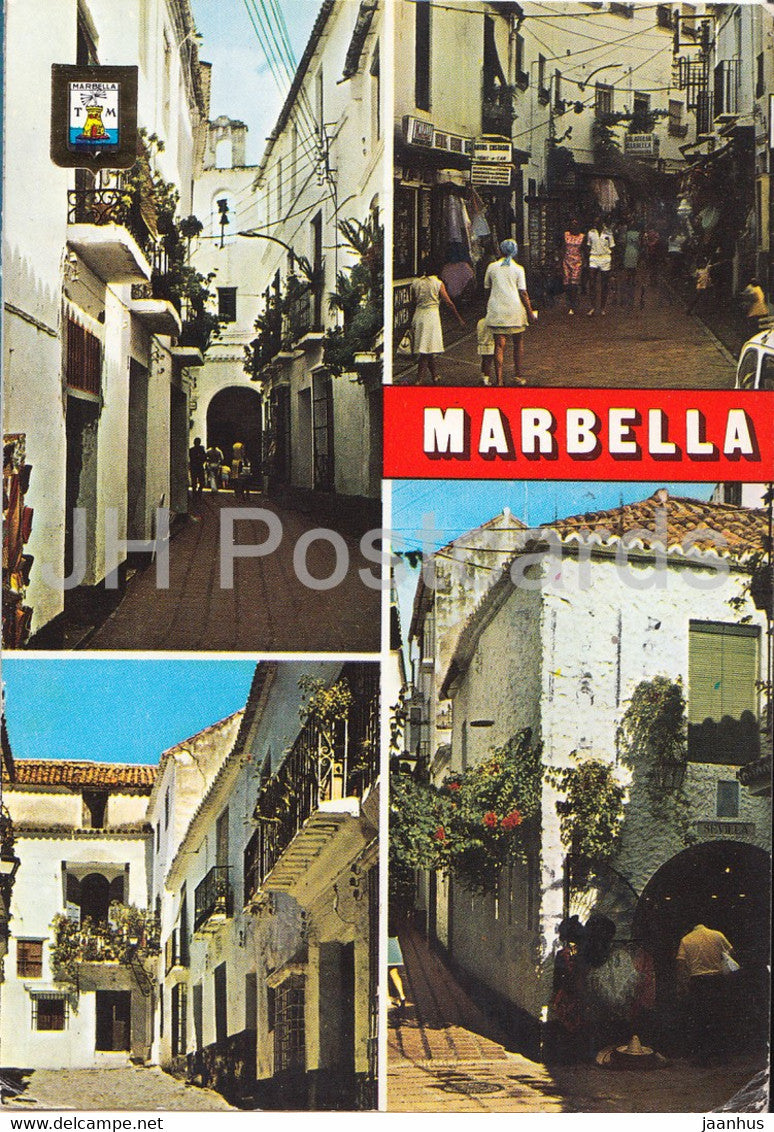 Marbella - Costa del Sol - Diversos aspectos - Different aspects - street views - multiview - 49 - Spain - used - JH Postcards