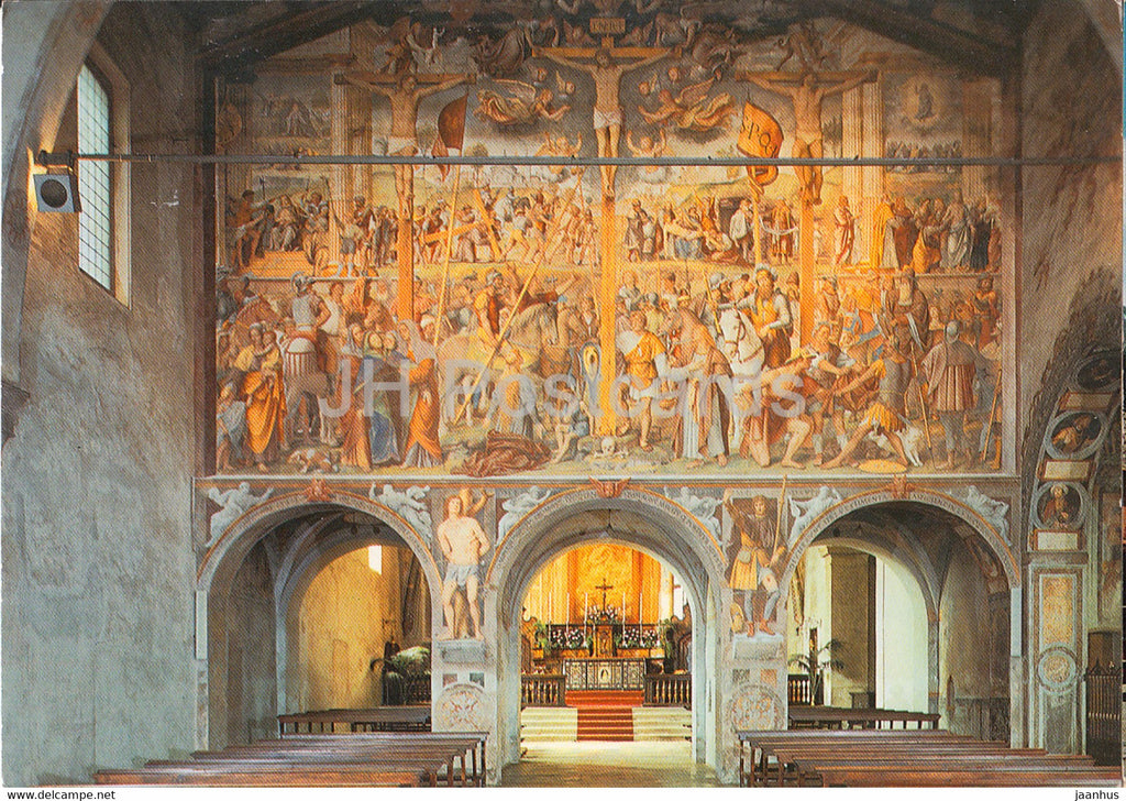 Chiesa degli Angeli - Lugano - Crocifissione - Luini - church - 9316 - 1979 - Switzerland - used - JH Postcards