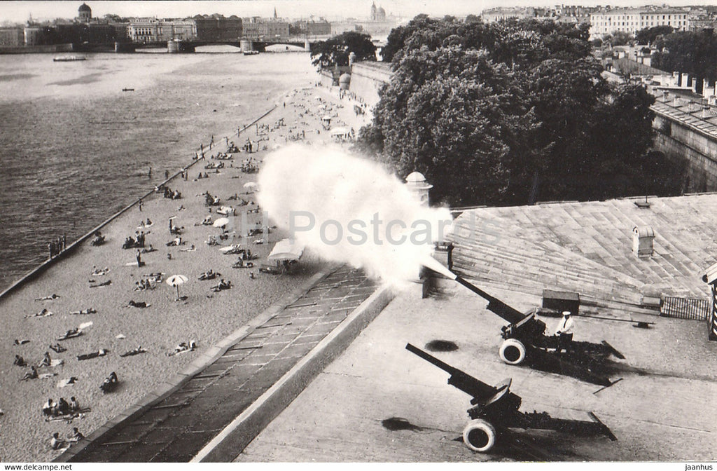 Leningrad - St Petersburg - Peter and Paul Fortress - noon shot cannons - 1985 - Russia USSR - unused - JH Postcards