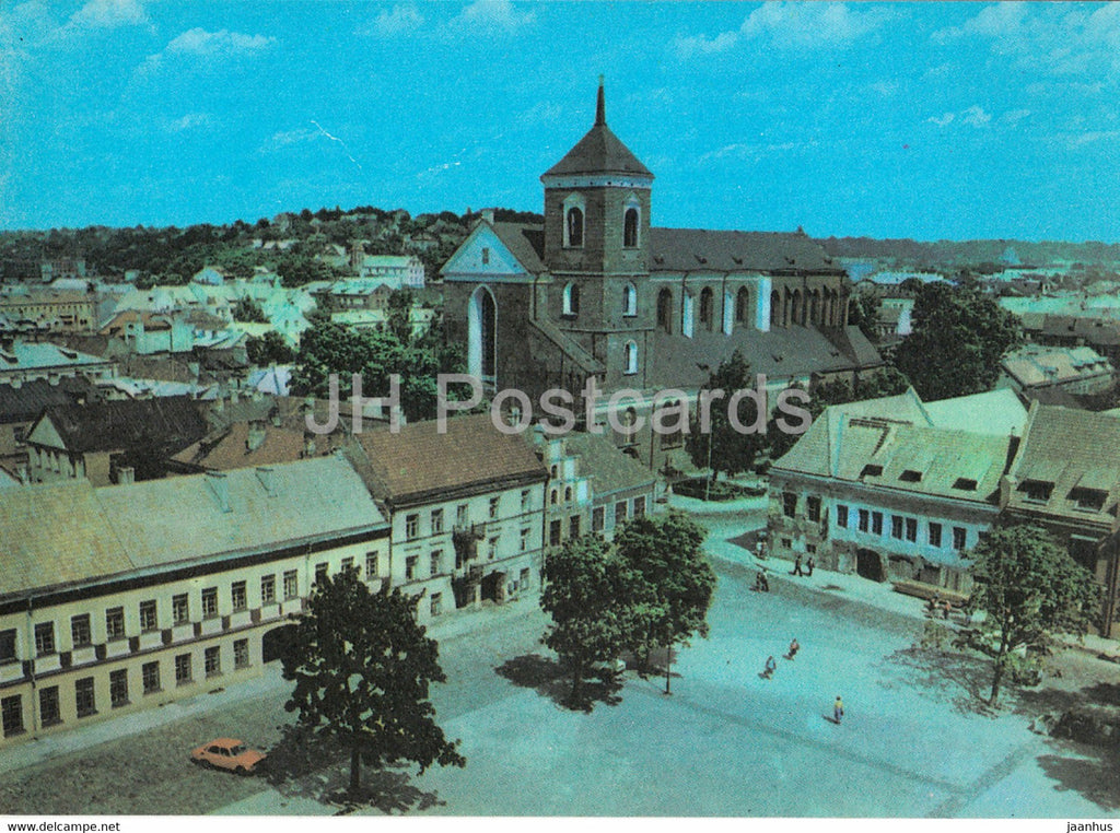 Kaunas - Rotuses (Town Hall) square - 1982 - Lithuania USSR - unused - JH Postcards
